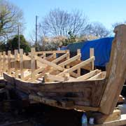 Narrowboat Restoration in the Puttenham boatyard